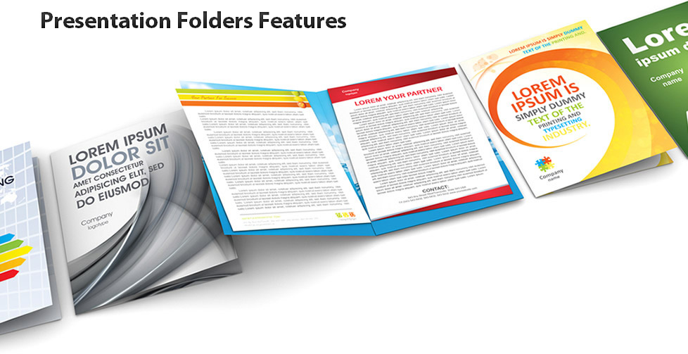 Presentation Folders Templates Features